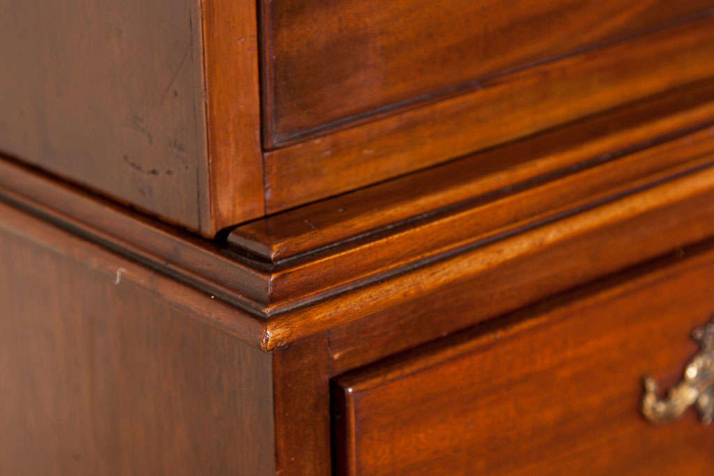 English mahogany chest on chest for sale at 1stdibs
