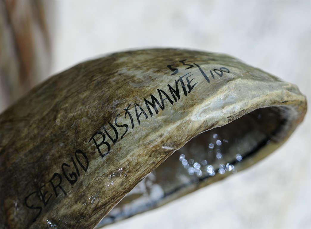 Sergio Bustamante Wall Hung Rhino Head In Excellent Condition For Sale In Miami, FL
