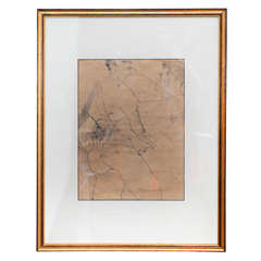 Academic Male Nude Pencil on Paper Framed