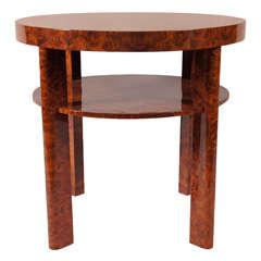 Round Burl Wood Table