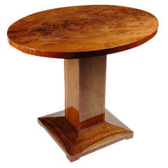 Small Art Deco Oval Rosewood Table