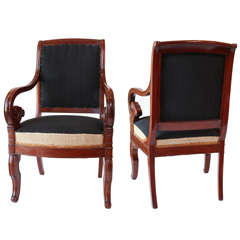 Pair of Period Biedermeier Armchairs