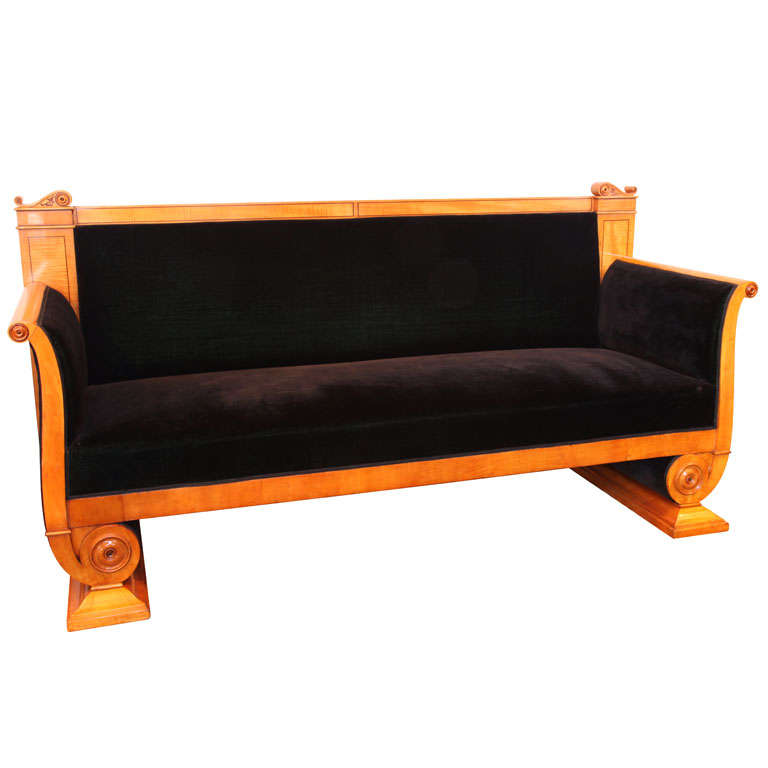 19th century german biedermeier sofa at 1stdibs Biedermeier sofa