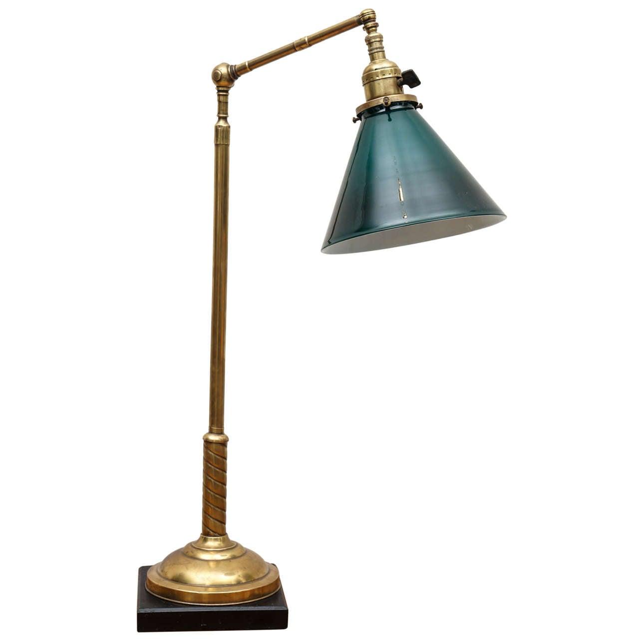 1920 S Brass Desk Lamp