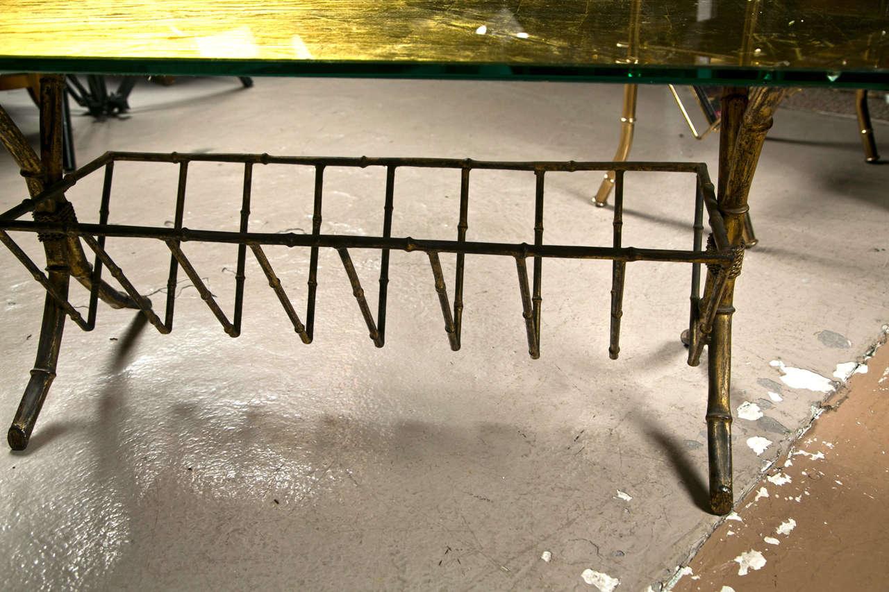 Hollywood Regency Style Gilt-Brass Coffee Table 4