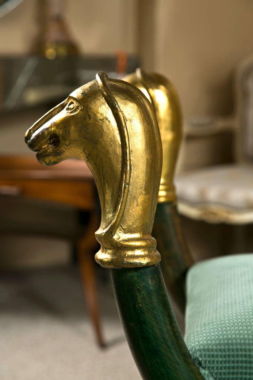 Enjoyable Egyptian Revival Style Painted Bench At 1Stdibs Short Links Chair Design For Home Short Linksinfo