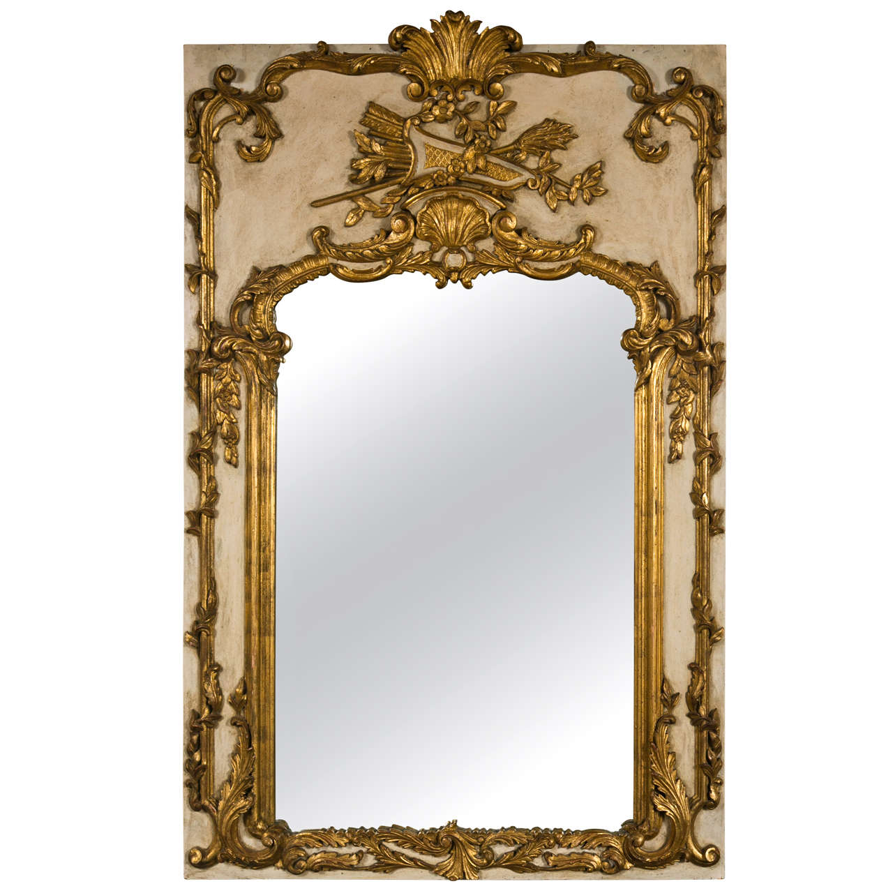 French rococo style painted mirror at 1stdibs for French rococo period