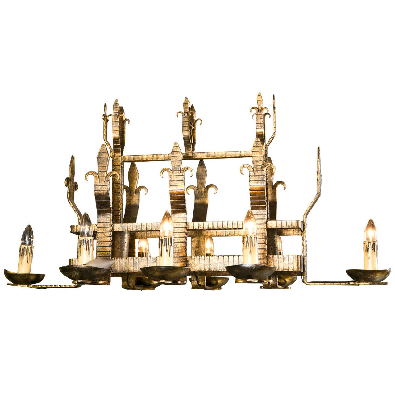 19th century ten light gothic style iron chandelier at 1stdibs