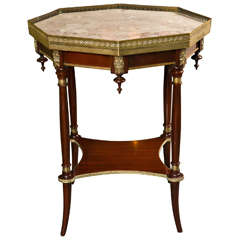 French Octagonal Rosewood End Table