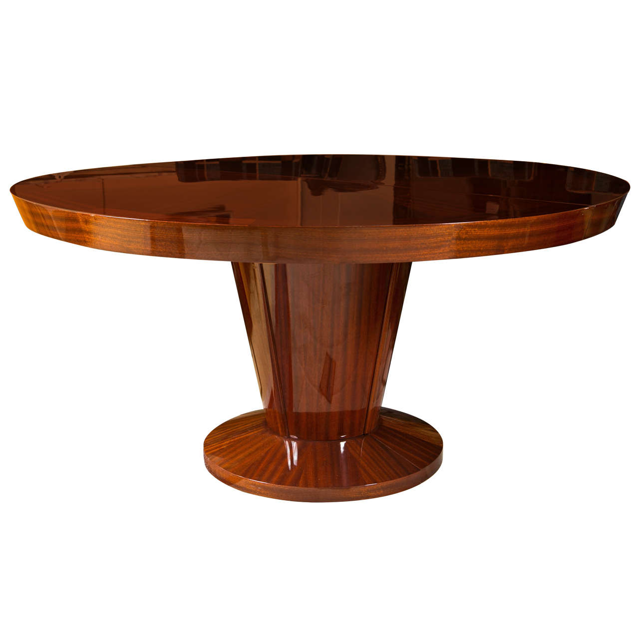 art deco style rosewood dining table at 1stdibs. Black Bedroom Furniture Sets. Home Design Ideas