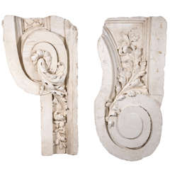 Late 19th C plaster fragments