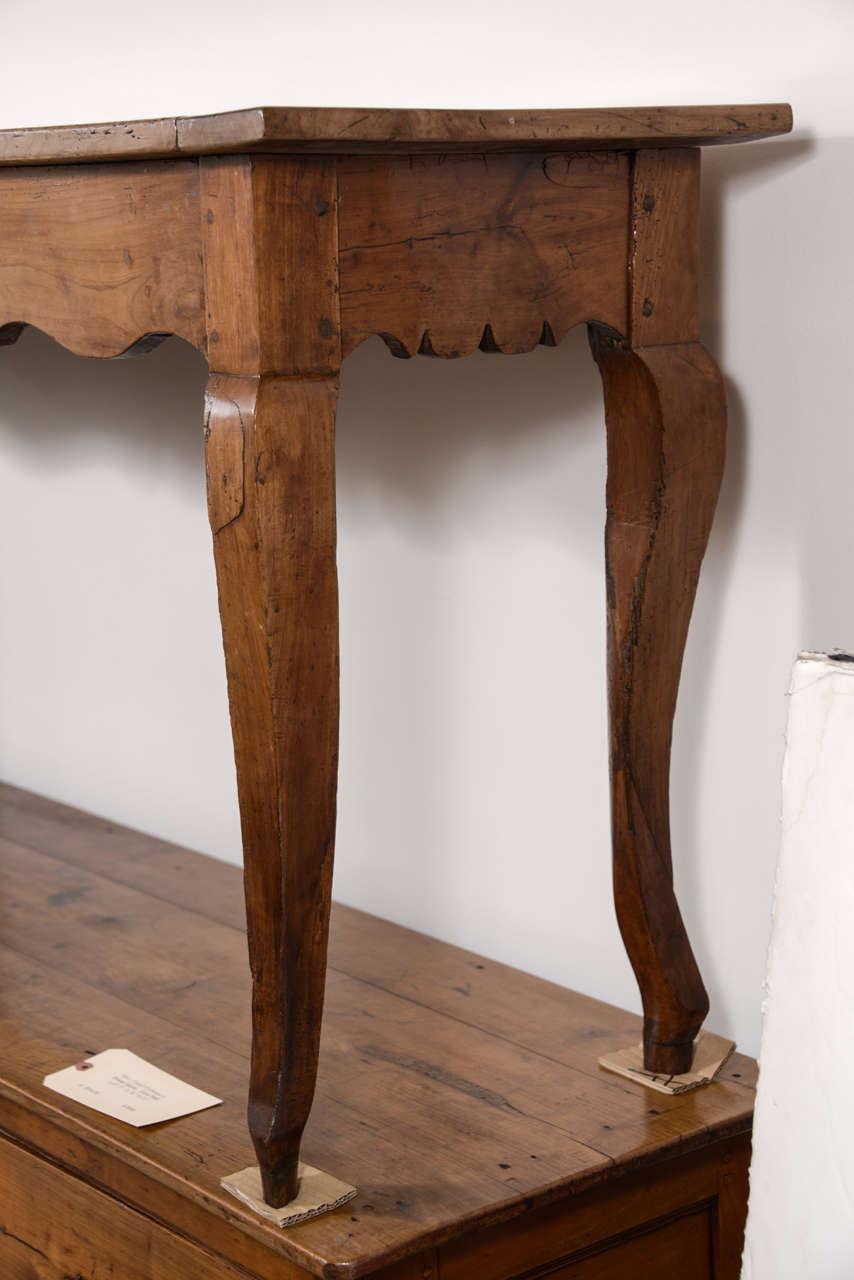19th Century French Narrow Cherry Sofa Table/Server For Sale 2