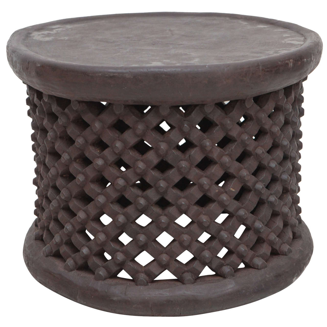 Wonderful African Drum Side Table From Cameroon 1