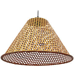 Yellow Metal Perforated Pendant