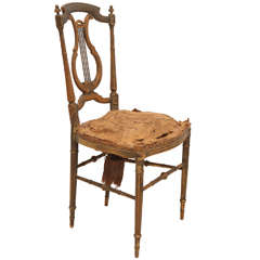 Petite French Ballroom Chair with Harp Back
