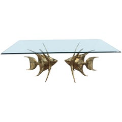 Rare Alain Chervet Fish Table