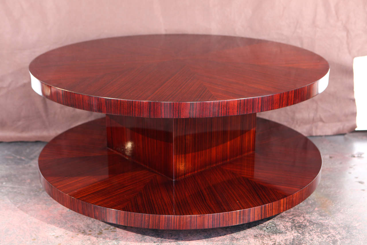 Bon Classic Lazy Susan Two Tiered Coffee Table With Swivel Top.