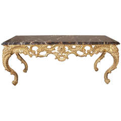 Ornate Console with Napoleon Marble Top