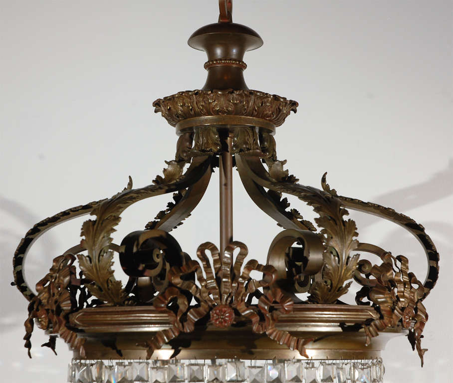Victorian Crystal And Bronze Chandelier At 1stdibs