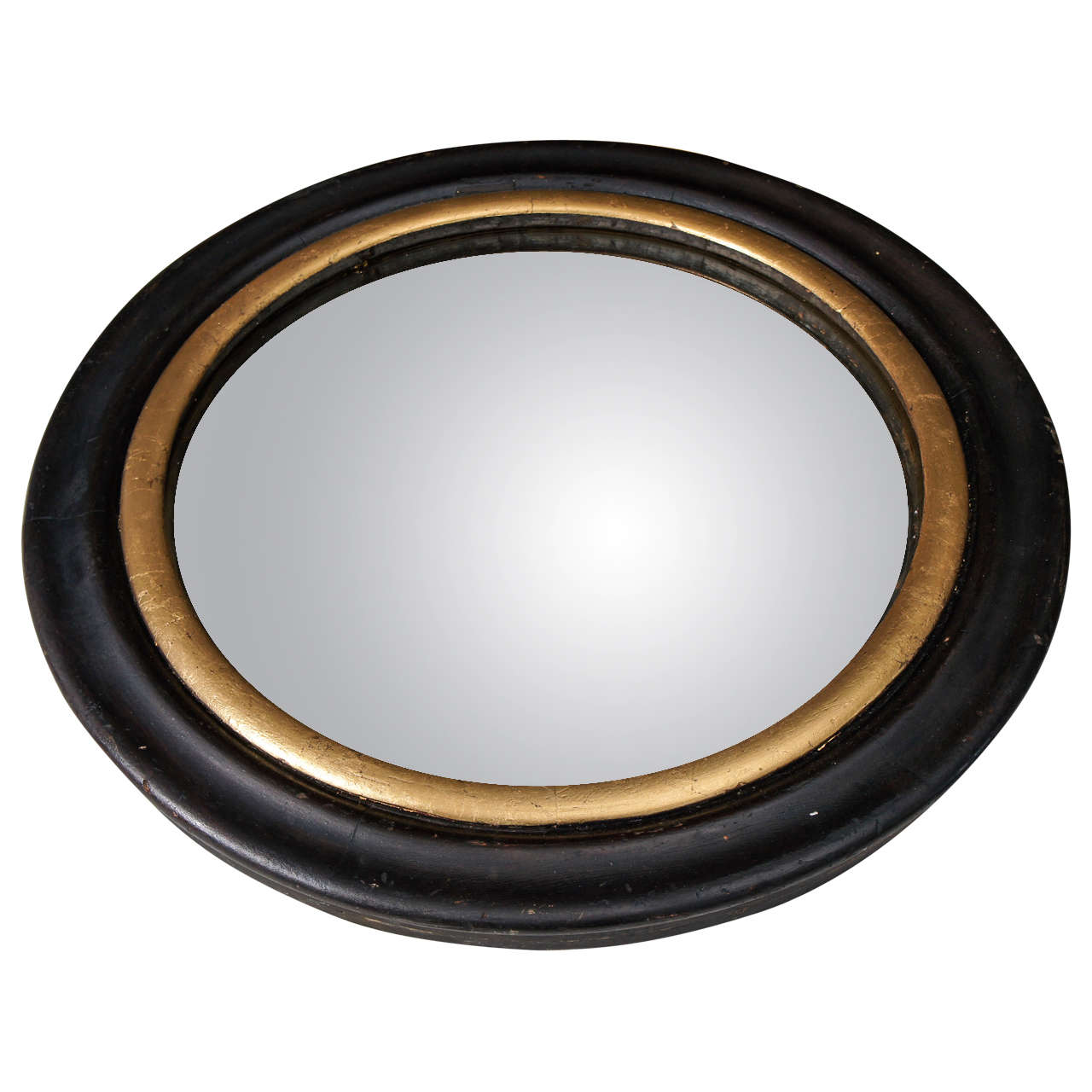 Circular frame with convex mirror at 1stdibs for Convex mirror