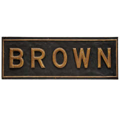 "Large ""Brown"" Advertising Sign"