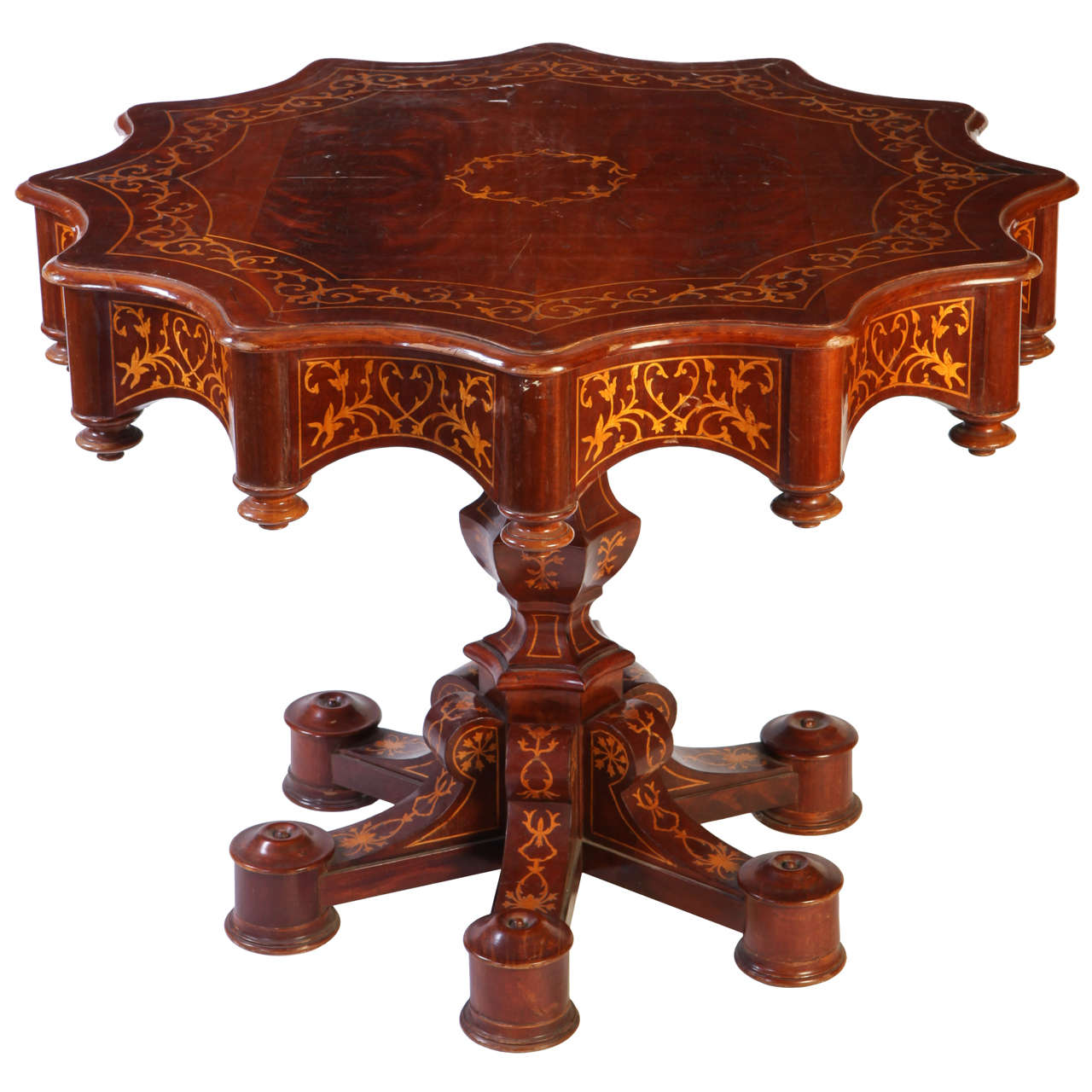 Fine 19th Century Italian Inlaid Center Table