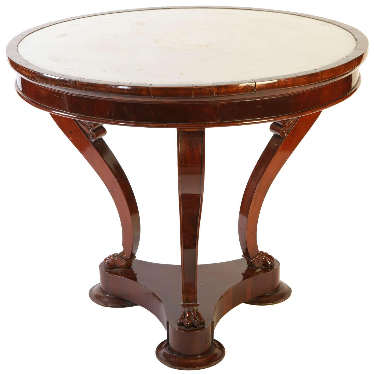 An Italian Mahogany  Gueridon Center Table