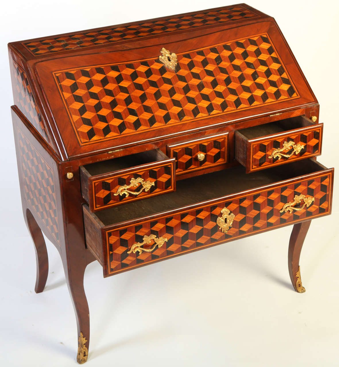 A french marqueterie bureau de dame for sale at 1stdibs for Bureau french