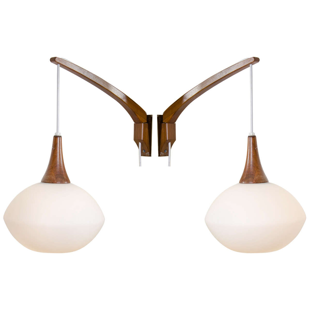 Superieur Pair Of Swedish Adjustable Wall Sconces By Luxus For Sale