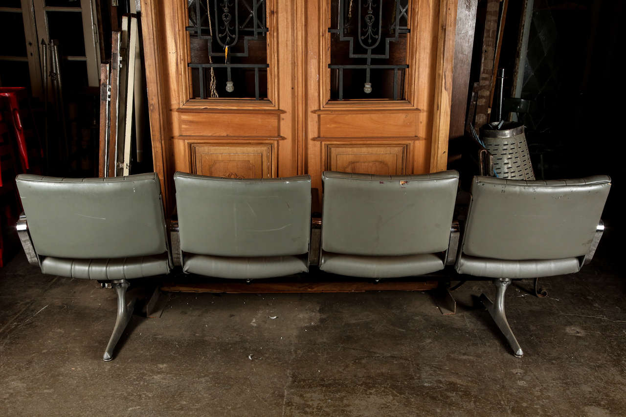 Jetblue Airline Terminal Seats From Jfk Airport At 1stdibs
