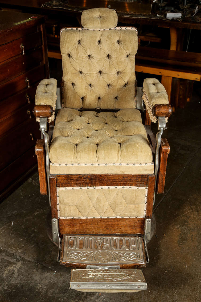 Restored 1800s Barber Chair By Kochs For Sale At 1stdibs