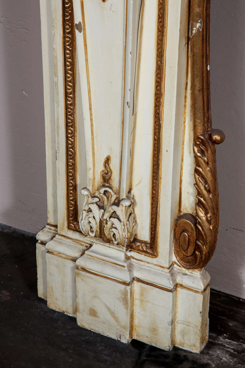 1950s Large Figural Greek Revival Wooden Mantel from East 56th St in NYC In Good Condition For Sale In New York, NY