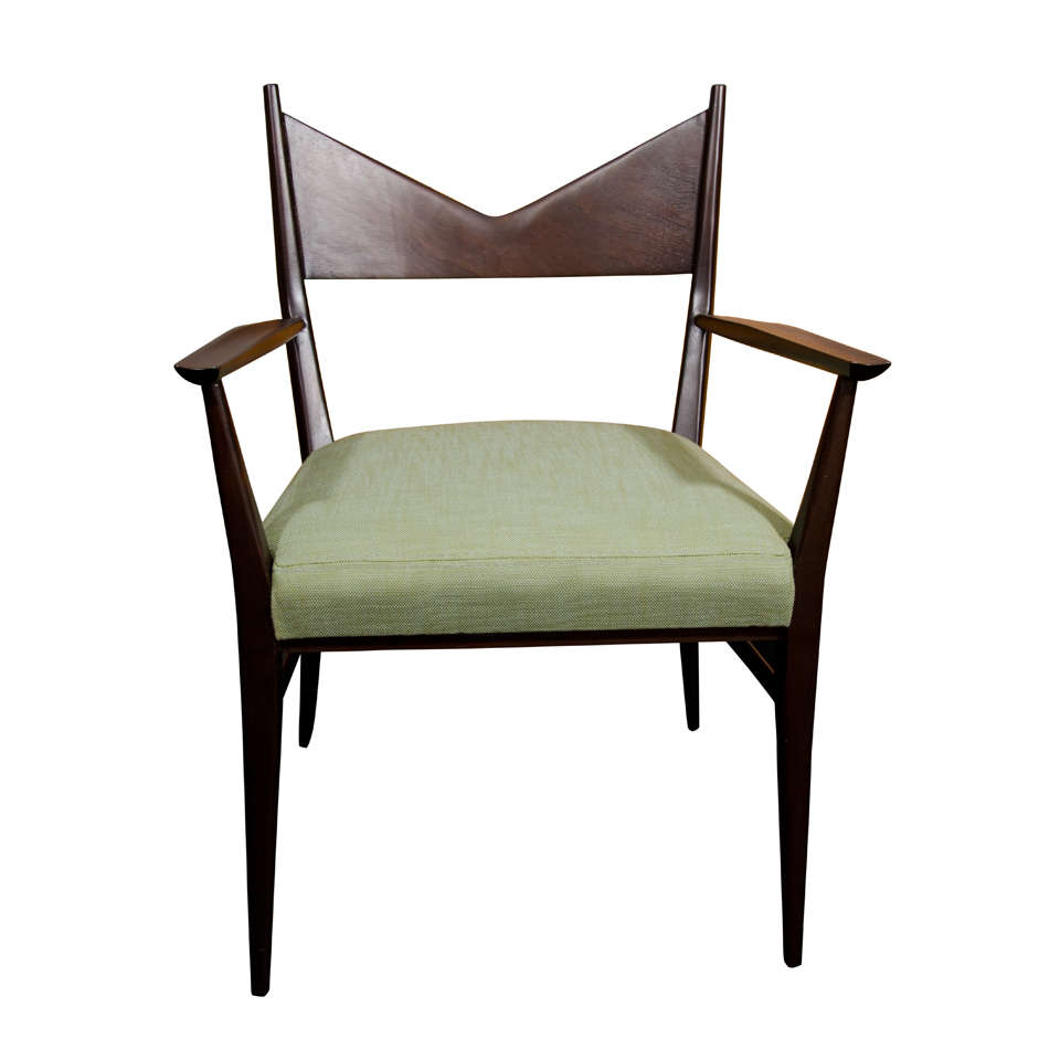 paul mccobb single dining desk chair with arms