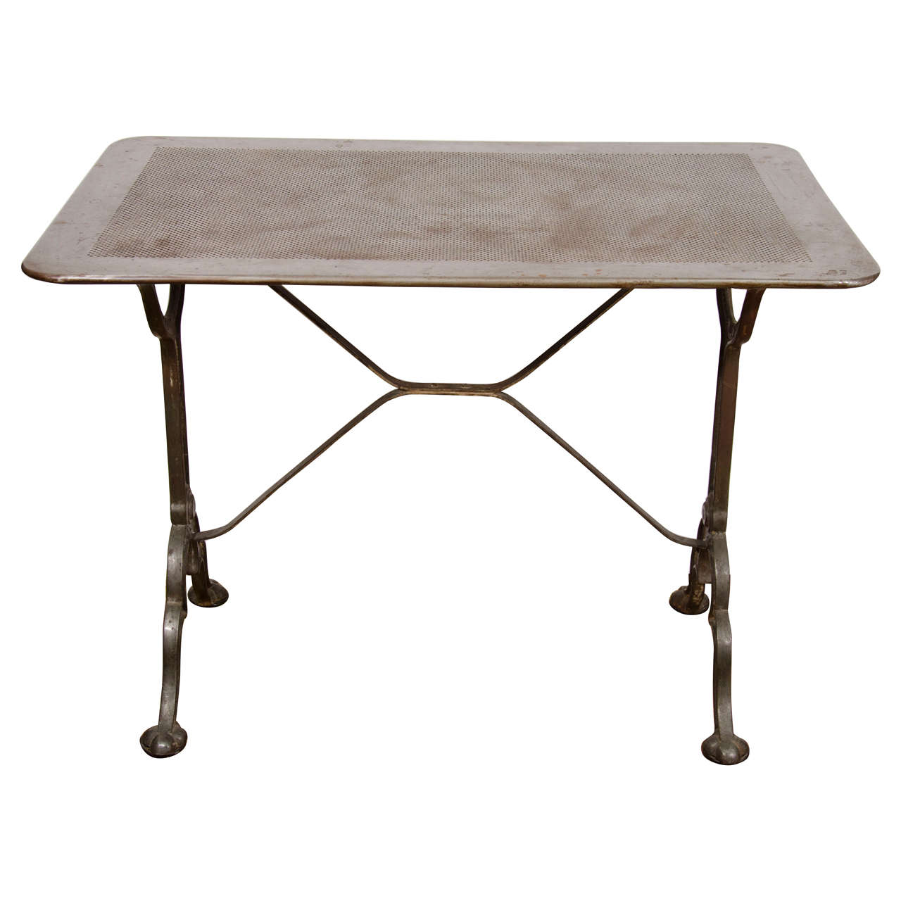 French bistro table signed pierre ouvrier at 1stdibs for Table 7 bistro