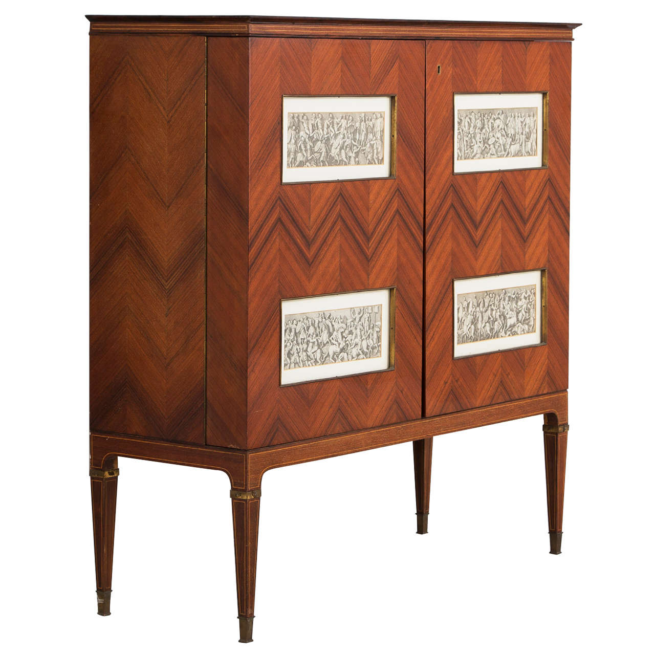 midcentury modern two tone wood bar and liquor cabinet paulo buffa large liquor cabinet 1