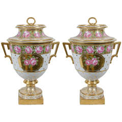 Pair of Antique Porcelain Fruit Coolers