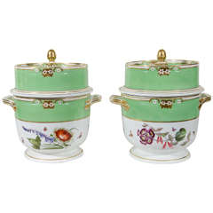 Pair of Derby Apple Green Ice Pails