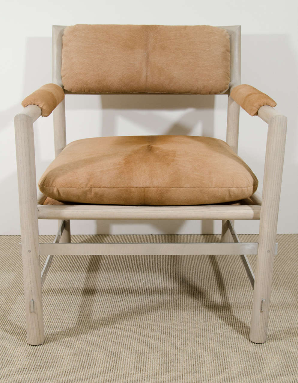 Pair of Edward Wormley for Dunbar Chairs in Cowhide, circa 1960, USA 2