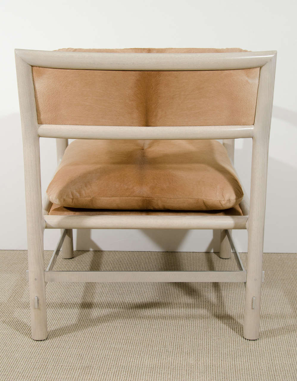 Pair of Edward Wormley for Dunbar Chairs in Cowhide, circa 1960, USA 7