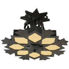 Moroccan Star Ceiling Iron Fixture by Paul Ferrante