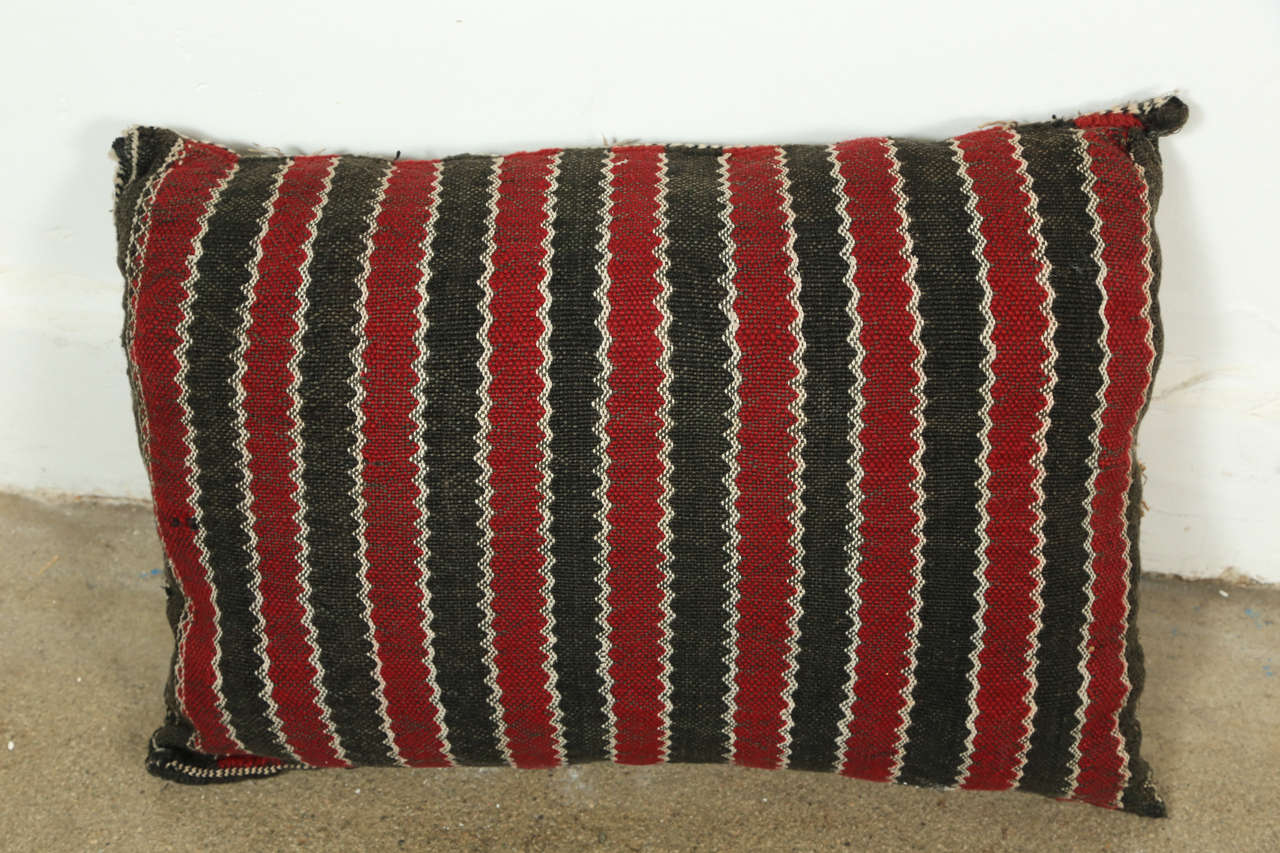 Hand-Knotted Moroccan Tribal Rug Throw Pillows