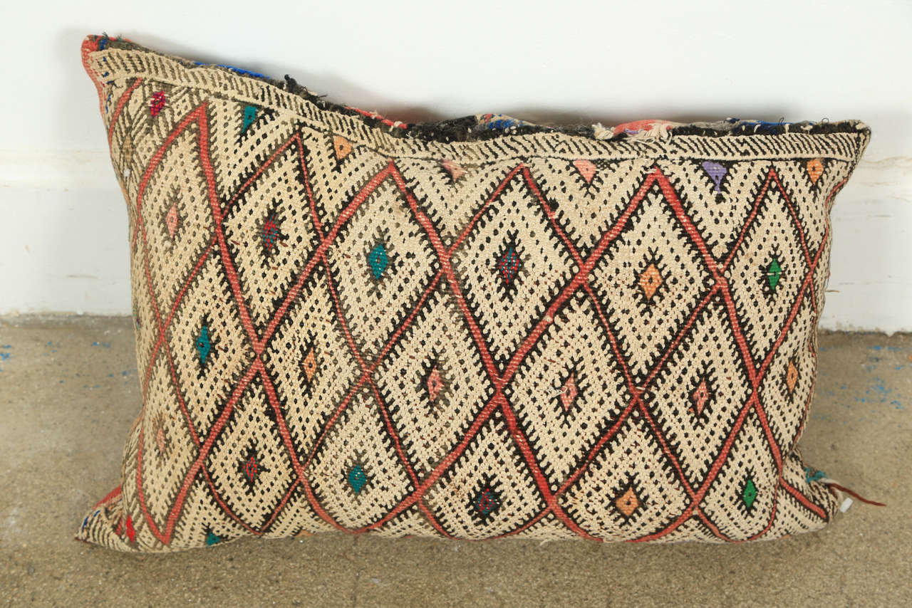Mid-20th Century Moroccan Tribal Rug Throw Pillows