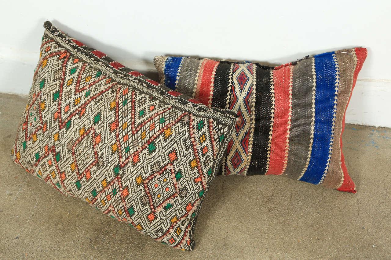 Cotton Moroccan Tribal Rug Throw Pillows