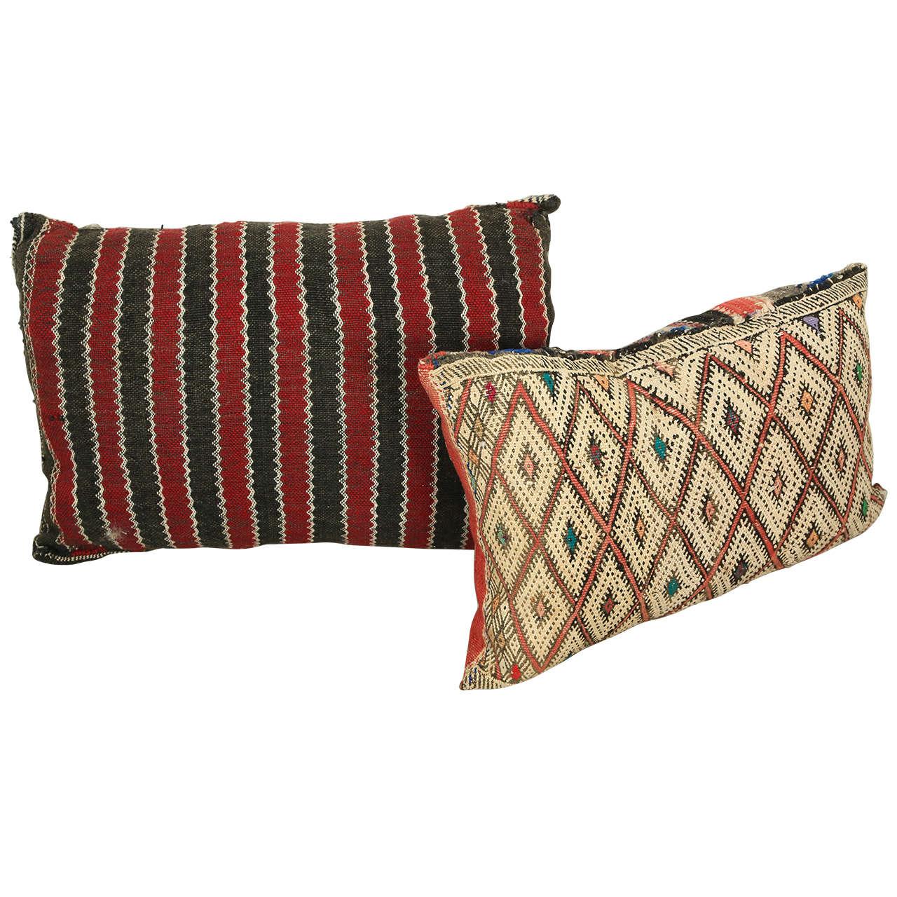Hand-made Moroccan tribal rug pillows, 1940
