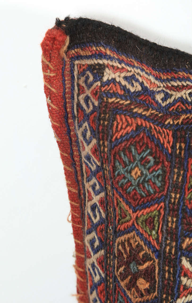 Turkish Kilim Floor Pillow : Turkish Tribal Kilim Floor Pillow For Sale at 1stdibs