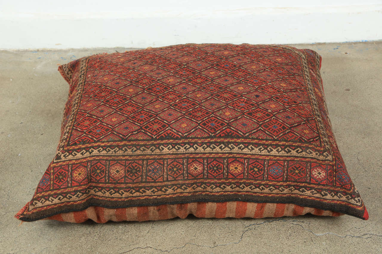 Middle Eastern Turkish Tribal Kilim Floor Pillow at 20stdibs