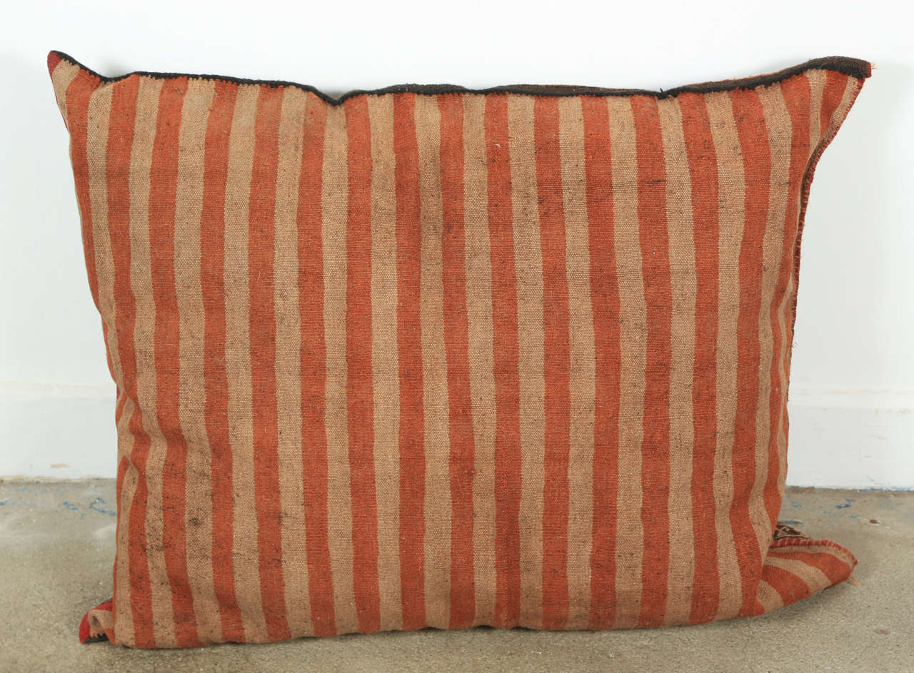Middle Eastern Turkish Tribal Kilim Floor Pillow at 1stdibs