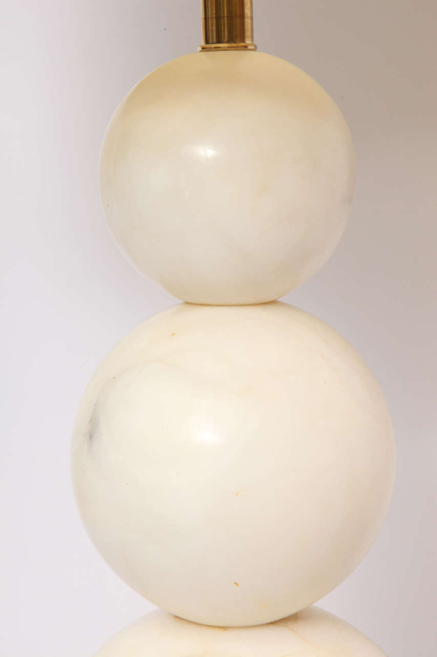 Table Lamp Mid-Century Modern Marble Cubist Spheres, Italy, 1940s For Sale 1