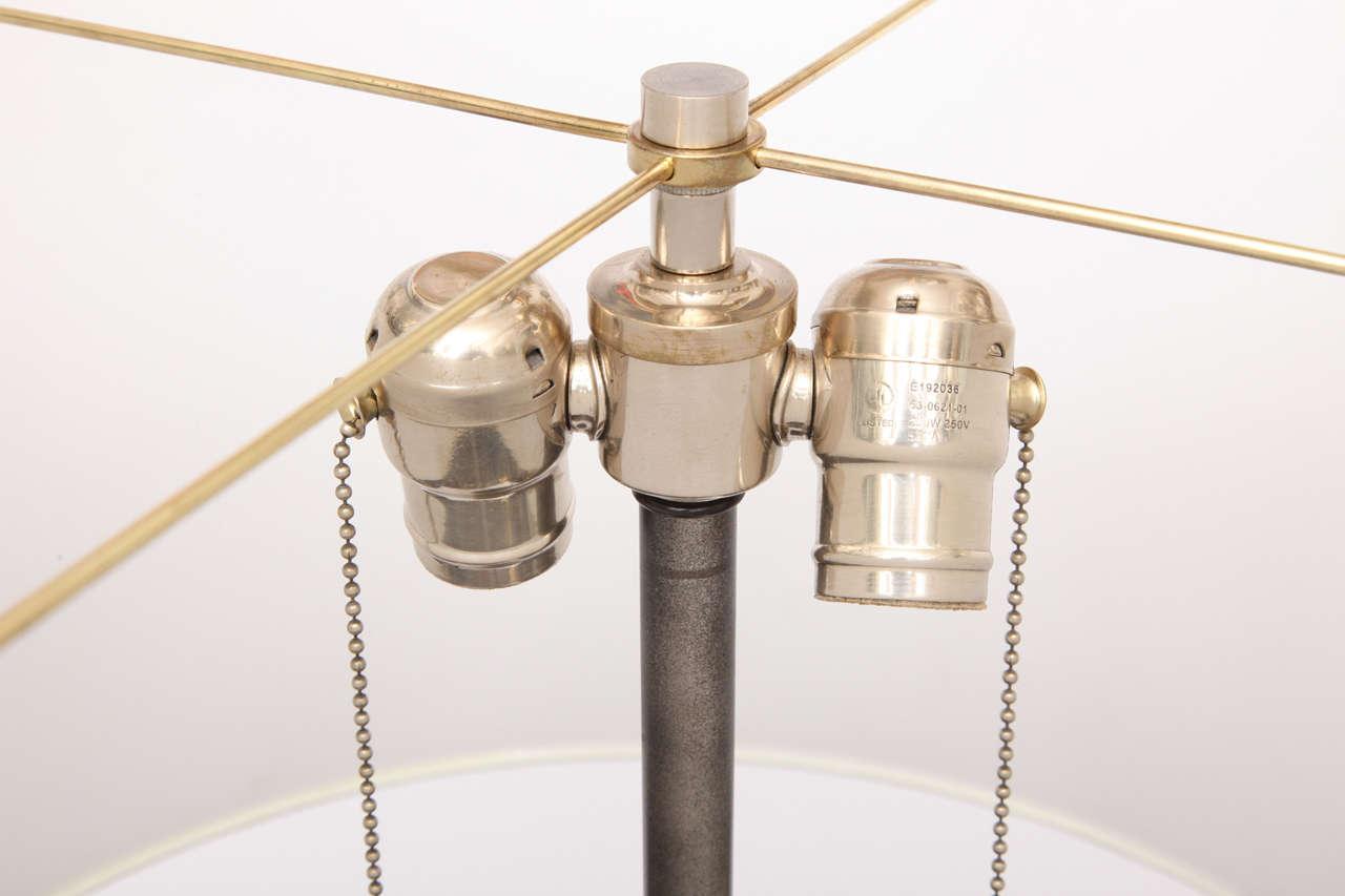 1940s Art Moderne, Hand-Wrought Iron Floor Lamp For Sale 3
