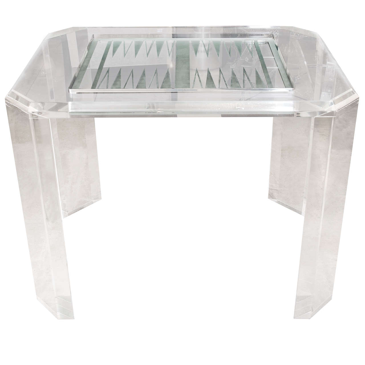 Lucite Backgammon Table For Sale At 1stdibs